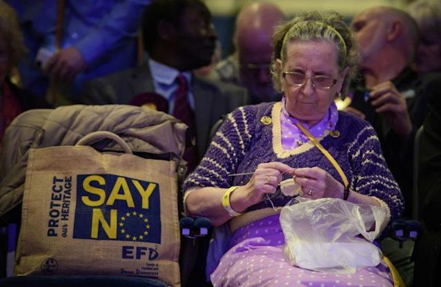 UKIP supporters were left with little to celebrate (Rex)