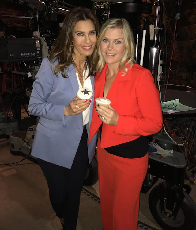 "<p>Oh how I've missed my dearest friend <a href=""https://www.instagram.com/kristianalfonso/"" rel=""nofollow noopener"" target=""_blank"" data-ylk=""slk:@kristianalfonso"" class=""link rapid-noclick-resp"">@kristianalfonso</a> !!! We reunited with joy and all of a sudden cupcakes appeared. Things like that just happen around her. Lol. <a href=""https://www.instagram.com/explore/tags/daysreunions/"" rel=""nofollow noopener"" target=""_blank"" data-ylk=""slk:#daysreunions"" class=""link rapid-noclick-resp"">#daysreunions</a> — <a href=""https://www.instagram.com/alisweeney/"" rel=""nofollow noopener"" target=""_blank"" data-ylk=""slk:@alisweeney"" class=""link rapid-noclick-resp"">@alisweeney</a><br><br>(Photo: Instagram) </p>"