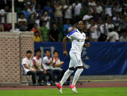 Didier Drogba started the game on the bench but came on at half time, almost scoring with his first touch of the ball
