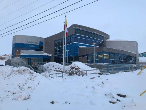 The Nunavut Court of Justice in Iqaluit, where the case of an Inuk man under the protection of Nunavut's public guardian was heard on April 1.  (Sara Frizzell/CBC - image credit)