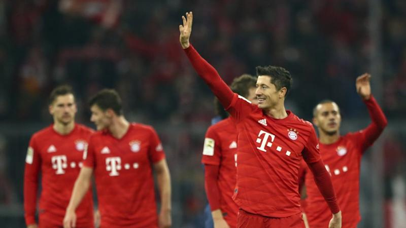 Bayern's Robert Lewandowski has scored in a record 11 consecutive German Bundesliga games