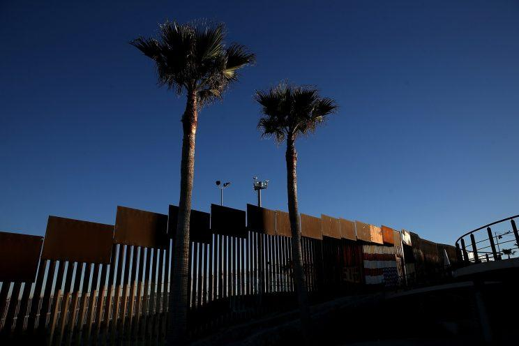 A view of the U.S.-Mexican border fence at Playas de Tijuana in Mexico. (Photo: Justin Sullivan/Getty Images)