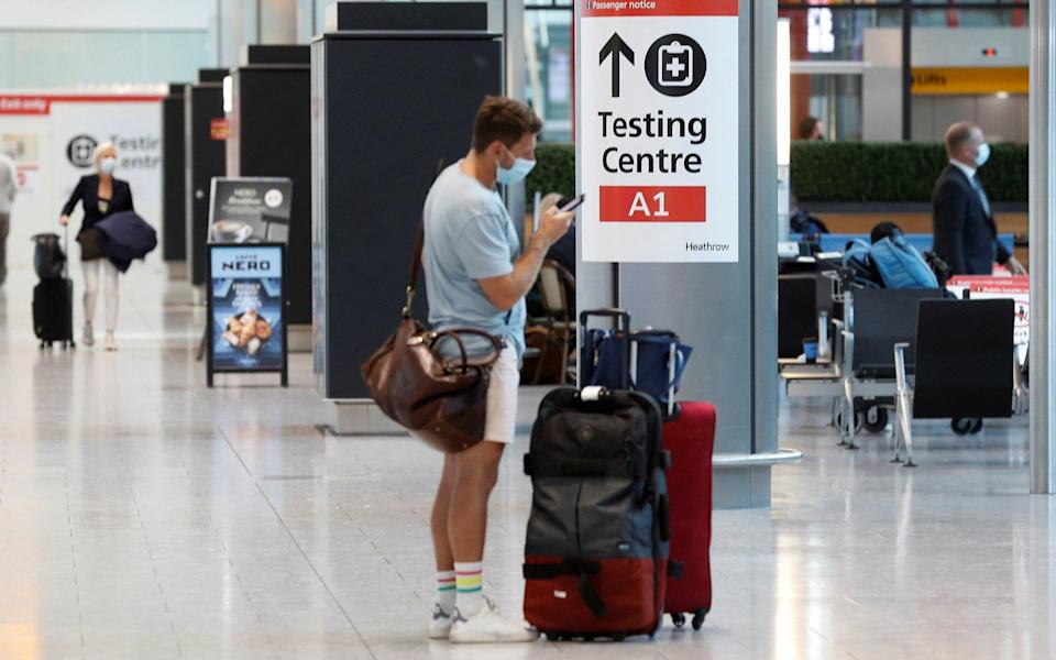 The overhaul of the travel and testing rules is being pushed forward ahead of the autumn half term - Reuters/Peter Nicholls