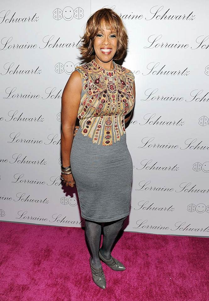 "Oprah's BFF Gayle King donned a disastrous, patterned ensemble complete with matching gray tights and shoes. No, no, and no. Dimitrios Kambouris/<a href=""http://www.wireimage.com"" target=""new"">WireImage.com</a> - November 22, 2010"
