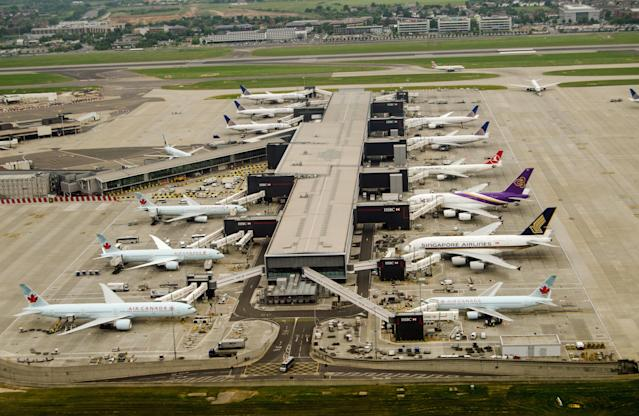 The closure of airspace – which began at around 9am on Friday – lasted for approximately 20 minutes (GETTY STOCK)
