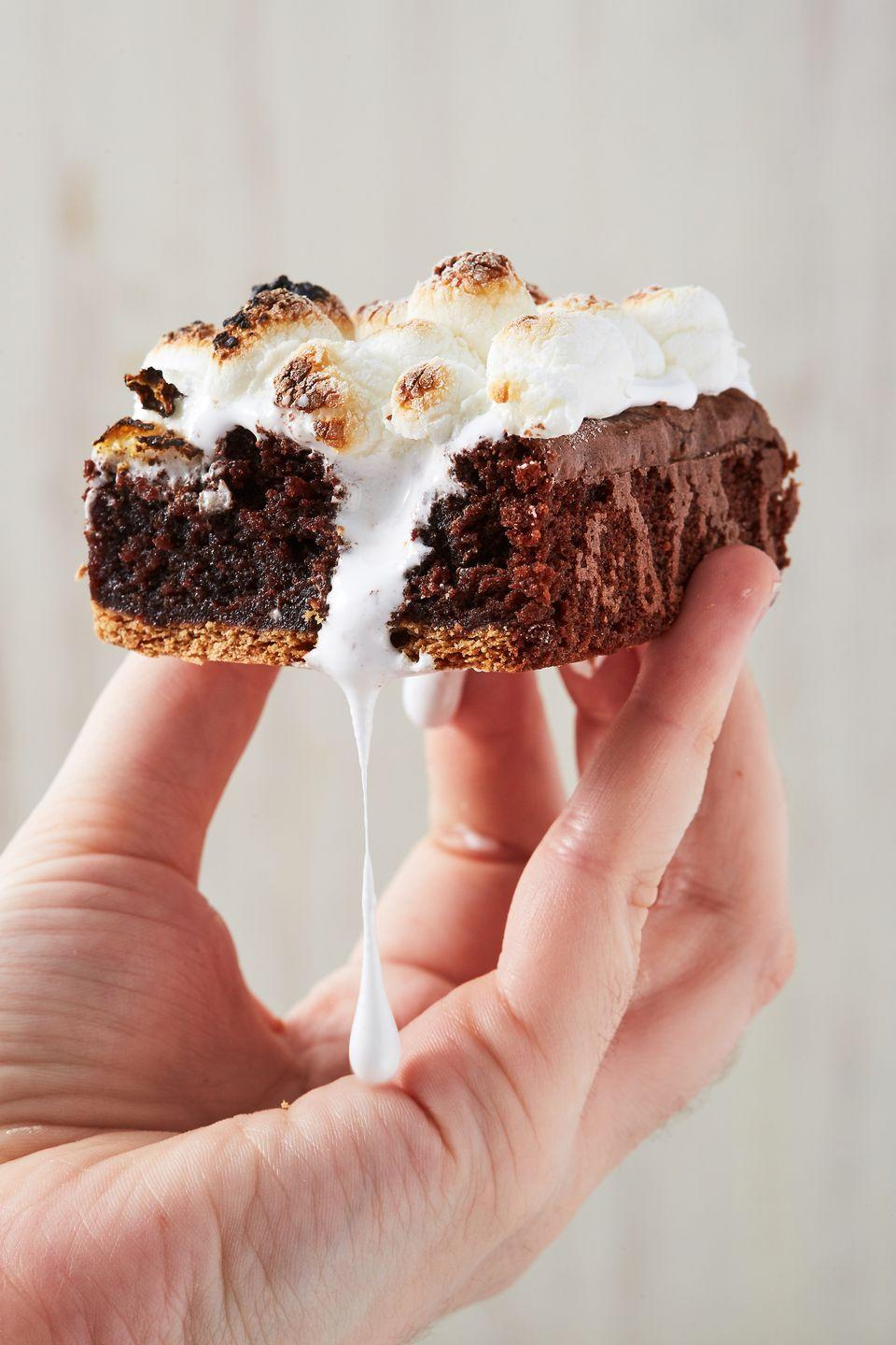 """<p>The BEST way to eat s'mores.</p><p>Get the recipe from <a href=""""https://www.delish.com/cooking/recipe-ideas/a21601837/smores-brownies-recipe/"""" rel=""""nofollow noopener"""" target=""""_blank"""" data-ylk=""""slk:Delish."""" class=""""link rapid-noclick-resp"""">Delish.</a> </p>"""
