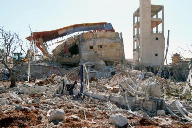 The rubble of a hospital supported by Doctors Without Borders (MSF) near Maaret al-Numan, in Syria's northern province of Idlib, after the building was hit by air strikes