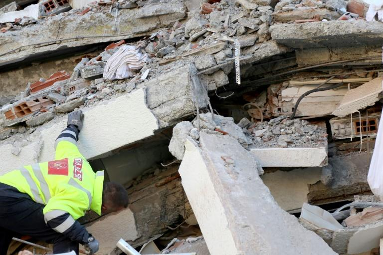 Emergency workers are hunting for survivors in the debris of a damaged building in the coastal city of Durres