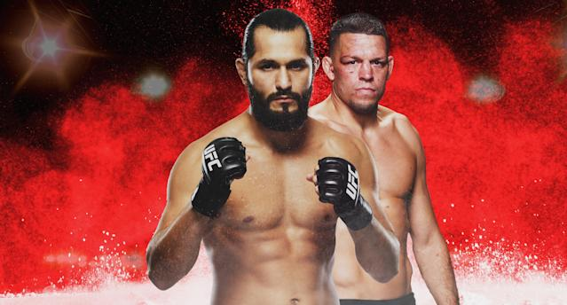Jorge Masvidal and Nate Diaz headline a stacked UFC 244 card. (Paul Rosales/Yahoo Sports)