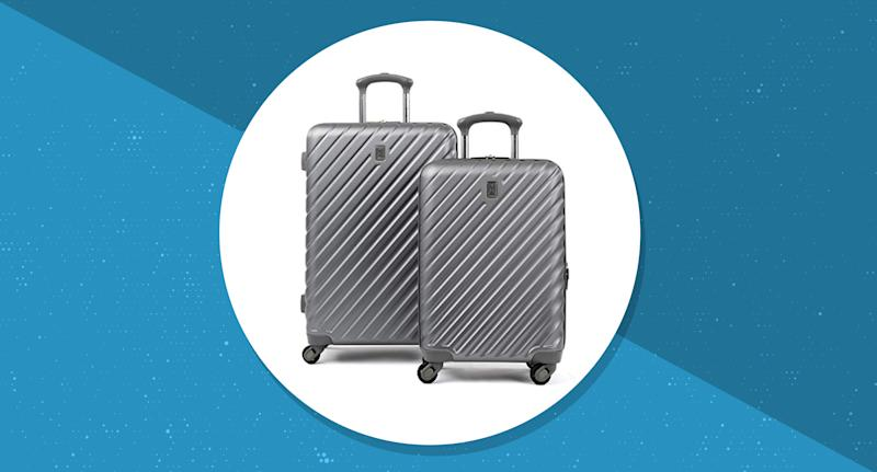 Travel and save big on this pair of hard or softside spinner luggage set. (Photo: Amazon)