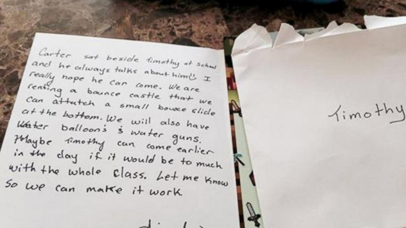 Mom Moved to Tears by Birthday Party Invitation Sent Home With Her Son