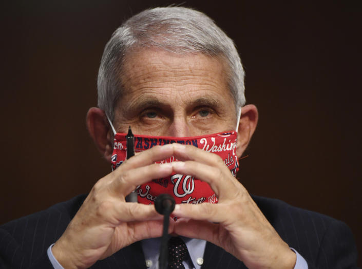 Dr. Anthony Fauci appears before the Senate Health, Education, Labor and Pensions Committee on Capitol Hill in Washington, D.C., Tuesday. )Kevin Dietsch/UPI)