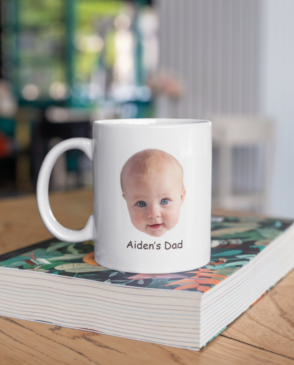 Customized Baby Photo Mug (Photo via Etsy)