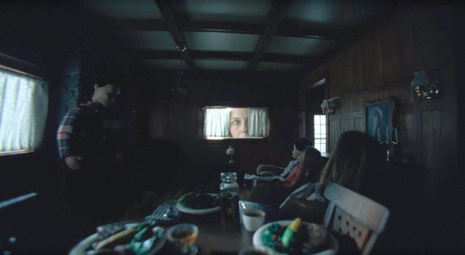 """<p>Stuck at work during the holidays, a father has no choice but to leave his children with his new girlfriend, Grace. When a sudden blizzard traps them in their remote winter lodge, the children discover the truth about Grace and her disturbing involvement in an extremist cult.</p> <p><a href=""""https://www.hulu.com/movie/the-lodge-049fb7d0-c41c-46ef-8b5c-ccecdc2c1357"""" class=""""link rapid-noclick-resp"""" rel=""""nofollow noopener"""" target=""""_blank"""" data-ylk=""""slk:Watch The Lodge on Hulu."""">Watch <strong>The Lodge</strong> on Hulu.</a></p>"""