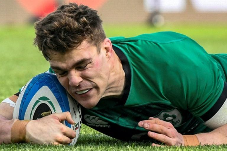 Ireland's Garry Ringrose got the first of six tries for Ireland.