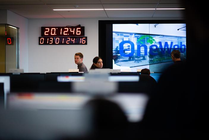 OneWeb's satellite operations centre. Photo: Sarah L. Voisin/The Washington Post via Getty Images