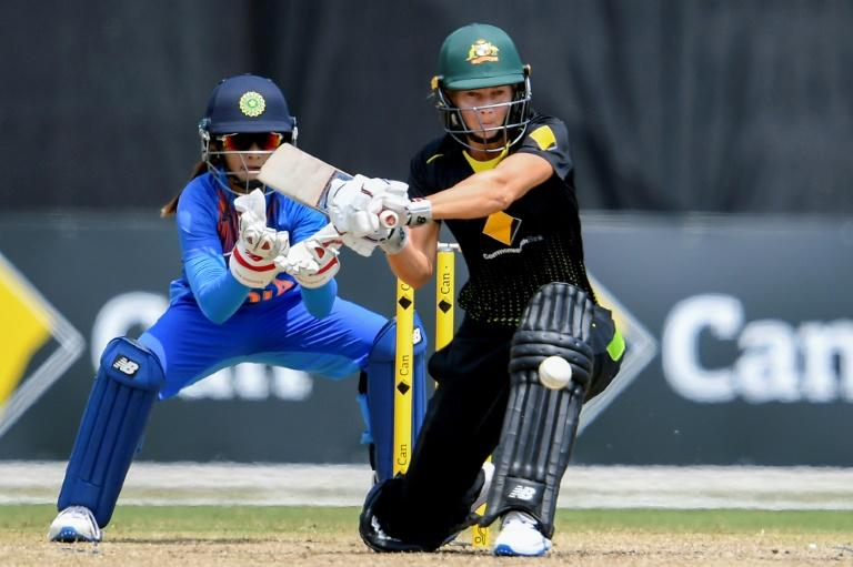 Silky stroke play: Australia's Meg Lanning sweeps against India in the recent tri-nations series