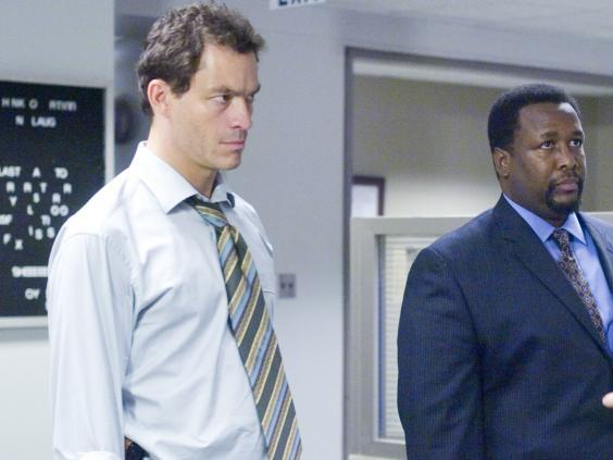 Dominic West and Wendell Pierce in 'The Wire' (Rex)