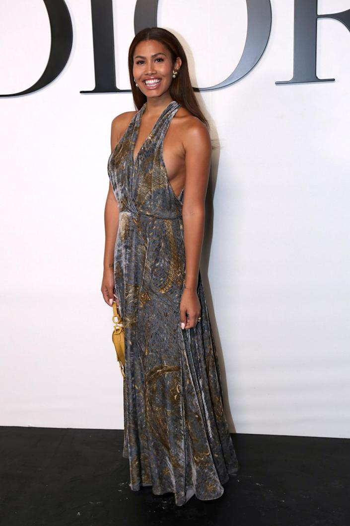 <p>All eyes were on Leyna and this gorgeous Dior dress at the show in Paris. </p>