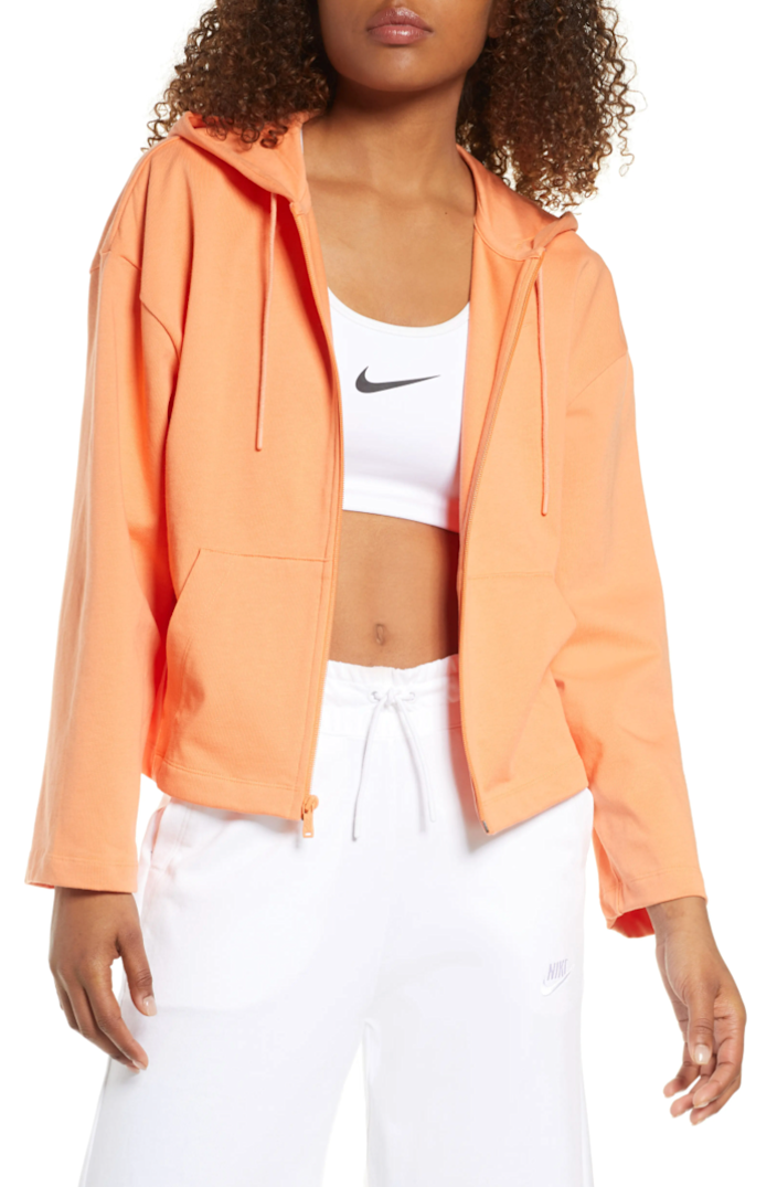 """<br> <br> <strong>Nike</strong> Sportswear Jersey Full Zip Hoodie, $, available at <a href=""""https://go.skimresources.com/?id=30283X879131&url=https%3A%2F%2Fwww.nordstrom.com%2Fs%2Fnike-sportswear-jersey-full-zip-hoodie%2F5748369"""" rel=""""nofollow noopener"""" target=""""_blank"""" data-ylk=""""slk:Nordstrom"""" class=""""link rapid-noclick-resp"""">Nordstrom</a>"""