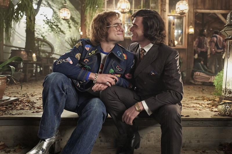 Taron Egerton and Richard Madden as Elton John and John Reid (Credit: Paramount)