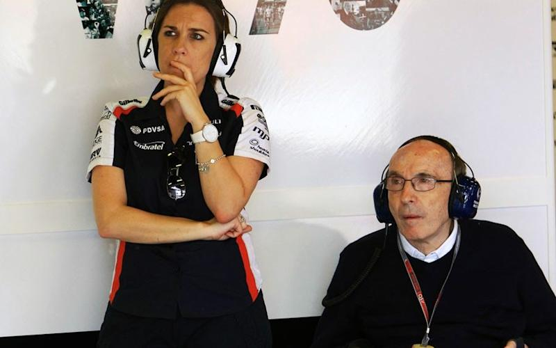 Sir Frank Williams with his daughter, Claire - SUTTON MOTORSPORT