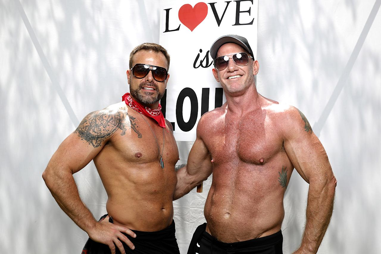 "<p>Dale Rowse, 47 (L), and his husband John Allen, 53, pose for a portrait during the Resist March against President Donald Trump in West Hollywood, California, U.S., June 11, 2017. Allen said: ""If Trump had been transparent from the word go at lot of this wouldn't have happened and clearly he has something to hide because he's not transparent. It's just really telling and it's just unfortunate that we have to do these things and march. It's very sad that we're going backwards; it's very disappointing. You have hope for people but he has really just let everybody down."" (Photo: Lucy Nicholson/Reuters) </p>"