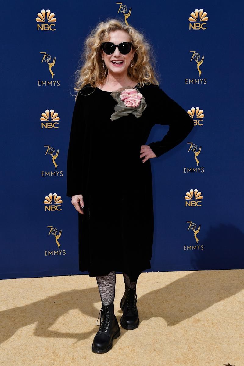 In a sea of stilettos, Carol Kane's real-person clothing is a refreshing change.