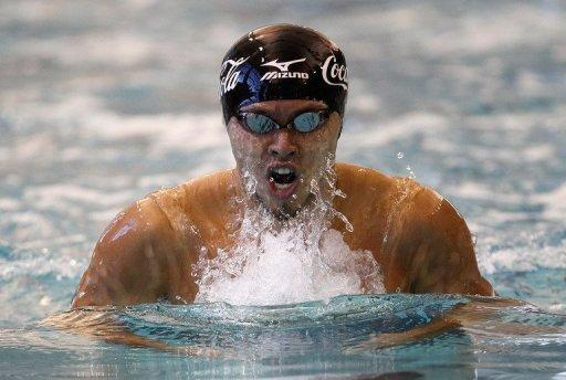 "Two-time double Olympic gold medallist Kosuke Kitajima, seen here during a competition in Atlanta, Georgia, last December, has said the death of world champion Alexander Dale Oen has left a ""big hole"" in his heart before their much anticipated duel at the London Games"