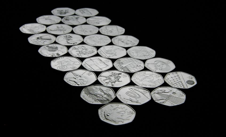 """New 50p pieces have been created by the Royal Mint to commemorate the 29 Olympic and Paralympic sports to be contested during London 2012. You can find our more information about the coins on <a href=""""http://www.royalmint.com/olympicgames/sportscollection/LUK50FTB_50p.aspx"""" rel=""""nofollow noopener"""" target=""""_blank"""" data-ylk=""""slk:the Royal Mint's website"""" class=""""link rapid-noclick-resp"""">the Royal Mint's website</a>. They will be entering general circulation from this month onwards, you can see all the designs here."""