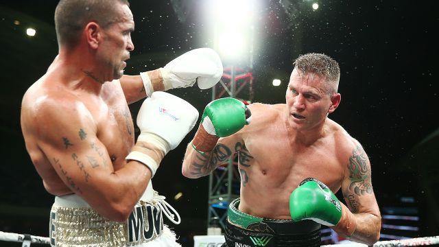 Mundine and Green in the ring. Image: Getty