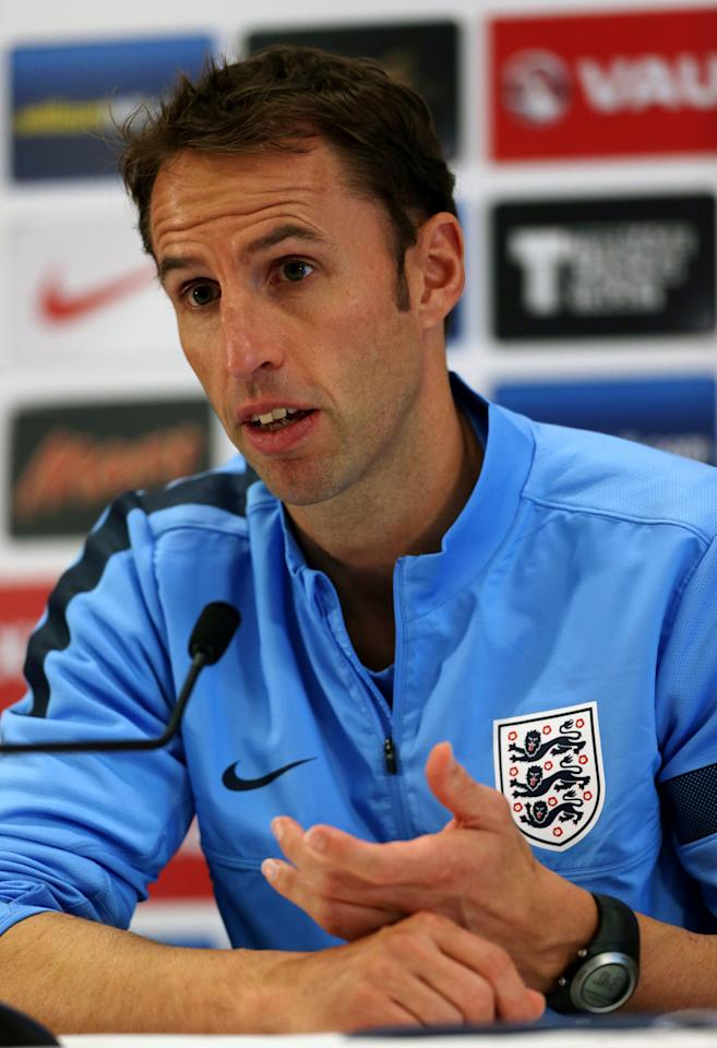 England's U21 Manager Gareth Southgate speaks to the media at St George's Park, Burton.