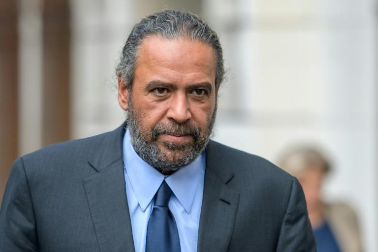 Sheikh Ahmad al-Fahad al-Sabah leaves the Geneva court after being found guilty on Friday over a plot against political rivals in the Gulf state (AFP/Fabrice COFFRINI)