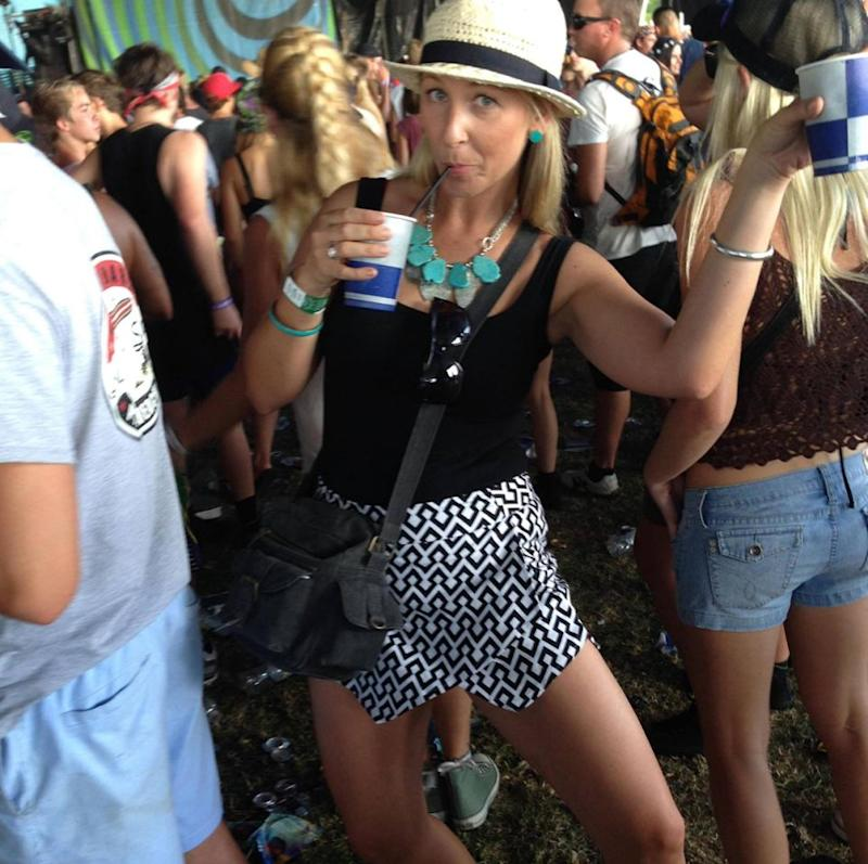 Hailee Bridge thought she was taking a fun party pic at Big Day Out. Little did she know... Source: Hailee Bridge/Caters