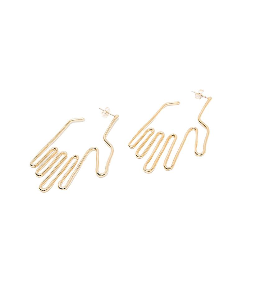 "<p>Hand Earrings, $76, <a rel=""nofollow"" href=""http://needsupply.com/hand-earrings.html"">needsupply.com</a> </p>"