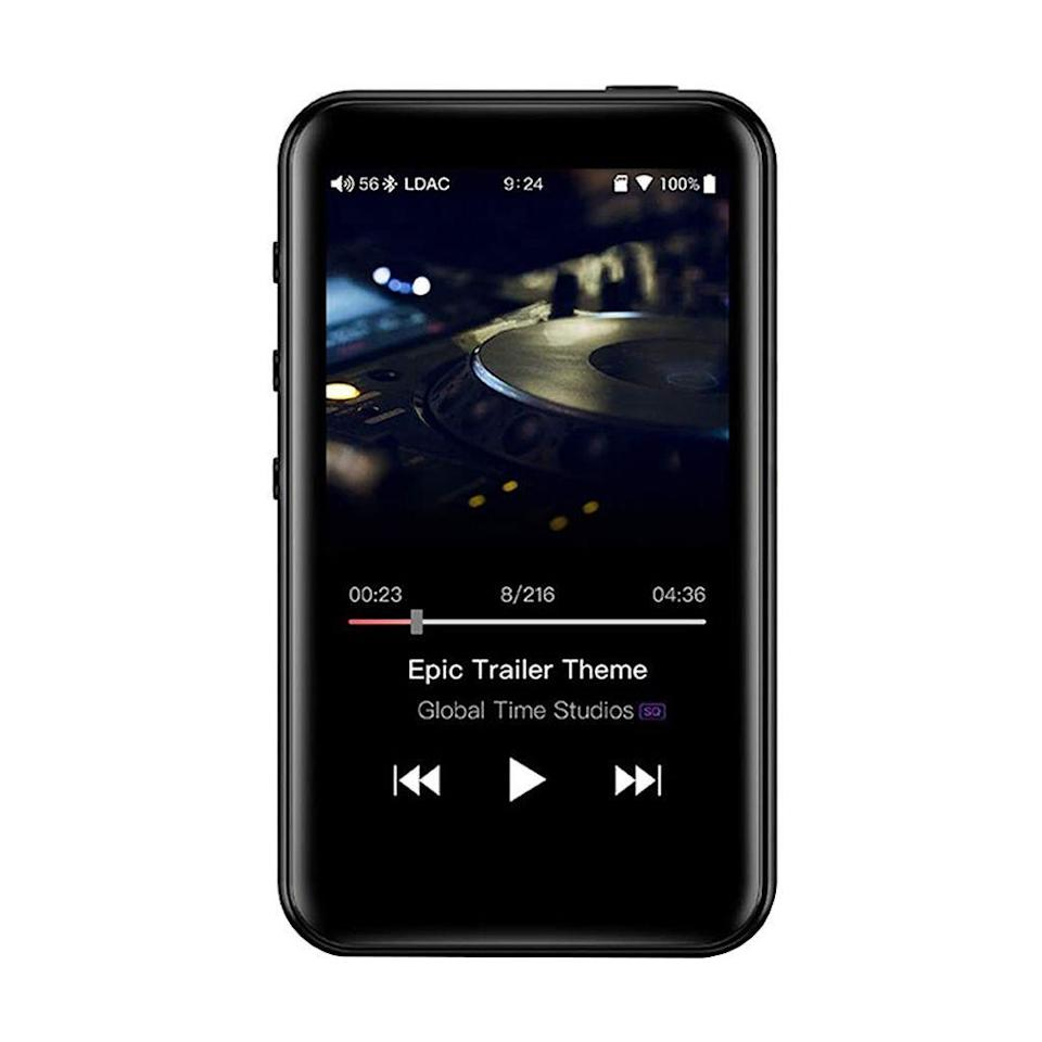 """<p><strong>FiiO</strong></p><p>amazon.com</p><p><strong>$129.99</strong></p><p><a href=""""https://www.amazon.com/dp/B07L8P8QDY?tag=syn-yahoo-20&ascsubtag=%5Bartid%7C2089.g.864%5Bsrc%7Cyahoo-us"""" rel=""""nofollow noopener"""" target=""""_blank"""" data-ylk=""""slk:Shop Now"""" class=""""link rapid-noclick-resp"""">Shop Now</a></p><p>The FiiO M6 is a sleek and feature-packed MP3 player with superb audio performance. The latter comes courtesy of a Samsung chipset and high-quality audio components.</p><p>The M6 stand has a 3.2-inch touch screen, 2 GB of expandable storage, and up to 13 hours of battery life between charges. It runs a customized version of Android, so you can install apps of popular streaming services like Spotify, Tidal, and Qobuz, among others.</p><p>As expected, the FiiO M6 supports a wide range of audio formats, including Hi-Res Audio files. Bluetooth connectivity and the ability to work as a USB DAC on your computer round out its key features. </p><p><strong>More: </strong><a href=""""https://www.bestproducts.com/tech/gadgets/g1064/mp3-music-players/"""" rel=""""nofollow noopener"""" target=""""_blank"""" data-ylk=""""slk:The Best MP3 Players Available Today"""" class=""""link rapid-noclick-resp"""">The Best MP3 Players Available Today</a></p>"""