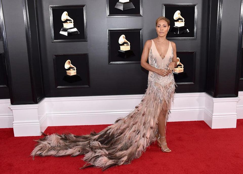 <p>Jada Pinkett Smith attends the 61st annual Grammy Awards at Staples Center on Feb. 10, 2019, in Los Angeles. </p>