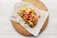 """Tomatoes and fresh corn salsa add a Mexican twist to the classic avocado toast. To add a smoky flavor to the mix, grill the corn first. <a href=""""https://www.epicurious.com/recipes/food/views/avocado-toast-with-tomato-corn-salsa-56389819?mbid=synd_yahoo_rss"""" rel=""""nofollow noopener"""" target=""""_blank"""" data-ylk=""""slk:See recipe."""" class=""""link rapid-noclick-resp"""">See recipe.</a>"""