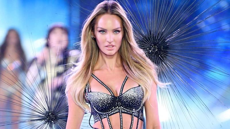 a9c135eafe Candice Swanepoel Flaunts Flawless Figure on Victoria s Secret Runway 5 Months  After Giving Birth -- Pics