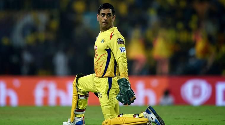 Chennai Super Kings (CSK) skipper M S Dhoni during the Indian Premier League 2019 (IPL T20) cricket match against Delhi Capitals (DC) at MAC Stadium in Chennai