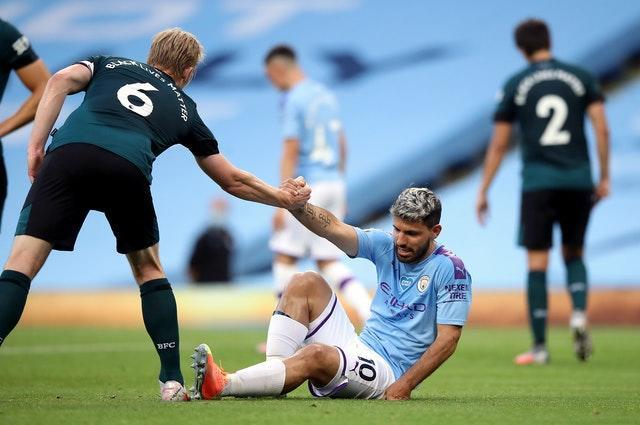 Aguero has played just three times for City since suffering a knee injury in June