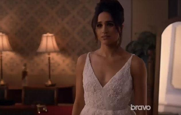 She donned a wedding dress recently for 'Suits' but Meghan might be about to do it in real life very soon. Photo: Youtube