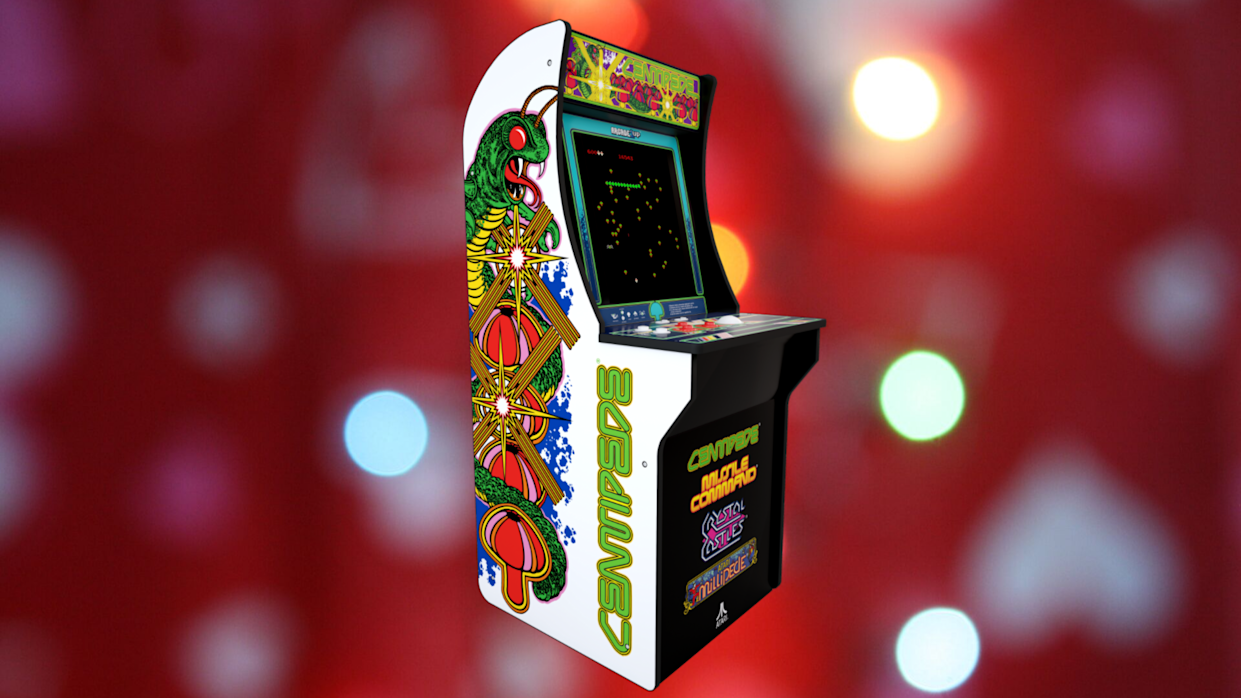 Take it back to 1980 with this arcade standup. (Photo: Walmart/Yahoo Lifestyle)