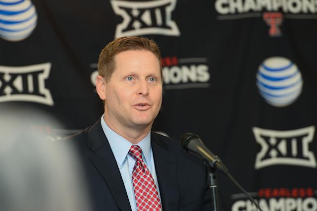 Texas Tech AD Kirby Hocutt got fined $25,000 by the Big 12 for his Sunday comments. (Photo by John Weast/Getty Images)