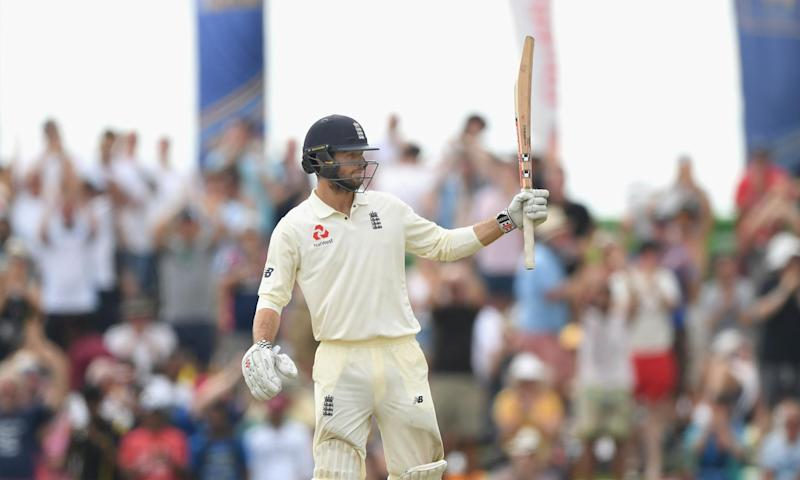 Ben Foakes celebrates his 50 on his Test debut for England: Getty