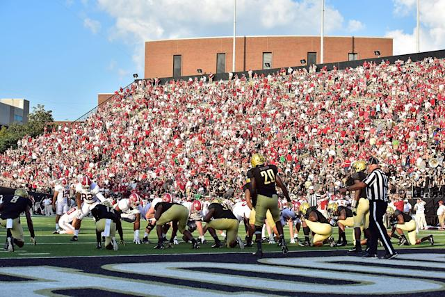 Vanderbilt safety Zaire Jones was suspended after allegedly assaulting a police officer with his car last week. (Getty Images)