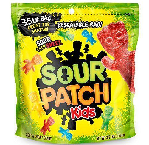 "<p><strong>Sour Patch Kids</strong></p><p>amazon.com</p><p><strong>$13.95</strong></p><p><a href=""https://www.amazon.com/dp/B004W7JMEM?tag=syn-yahoo-20&ascsubtag=%5Bartid%7C2089.g.35651204%5Bsrc%7Cyahoo-us"" rel=""nofollow noopener"" target=""_blank"" data-ylk=""slk:Shop Now"" class=""link rapid-noclick-resp"">Shop Now</a></p><p>Sour Patch Kids deliver gummy texture without any gelatin, thanks to lots of sugar and corn syrup. They're not <em>healthy</em>, but they're vegan.</p><p><em>Per 16 pieces: 158 cals, 0 g fat, (0 g sat), 40 g carbs, 24 g sugar, 18 mg sodium, 0 g fiber, 0 g protein. </em></p>"
