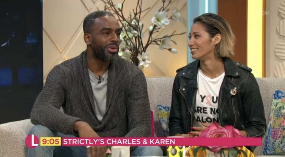 Charles Venn and Karen Clifton on Lorraine