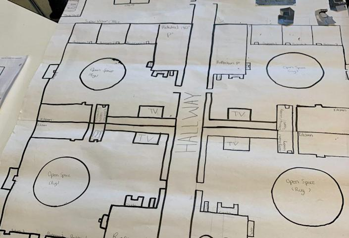Crystal Watson's students created apartment blueprints to learn about transformation in geometry. (Crystal Watson)