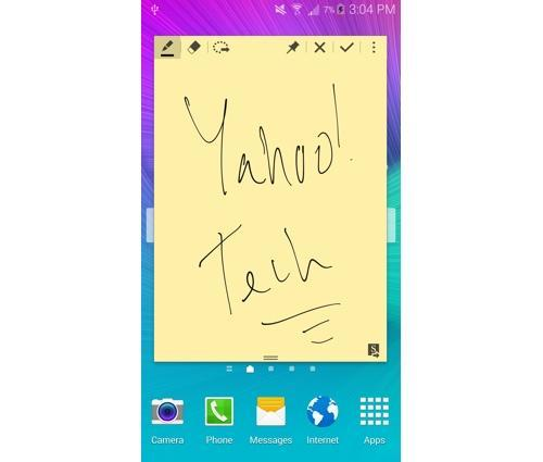 Note on a Galaxy Note 4 smartphone